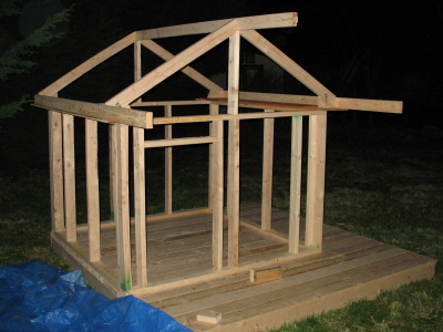 Using plans i followed from i spent about for Simple outdoor playhouse plans