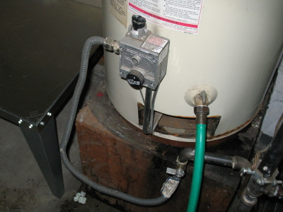 My i can to water propane hook heater up