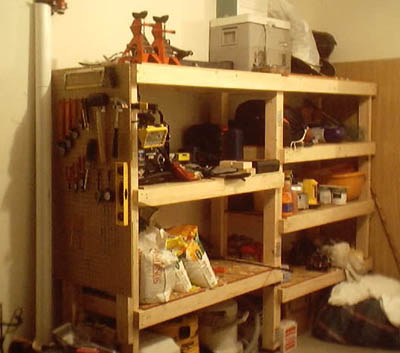 Woodworking plans for simple garage wooden shelves PDF Free Download