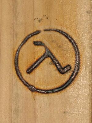Branding Iron Logo Effect Photoshop Super simple horse brand logo logo ...